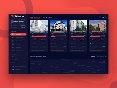 UI UX dashboard web design for Real Estate Property Saas webapp saas interaction design user panel realestate payment dark ui ux investment dashboard extej crypto banking fintech finance real estate product design web design