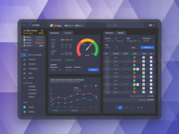Investment dashboard for ICO fintech project