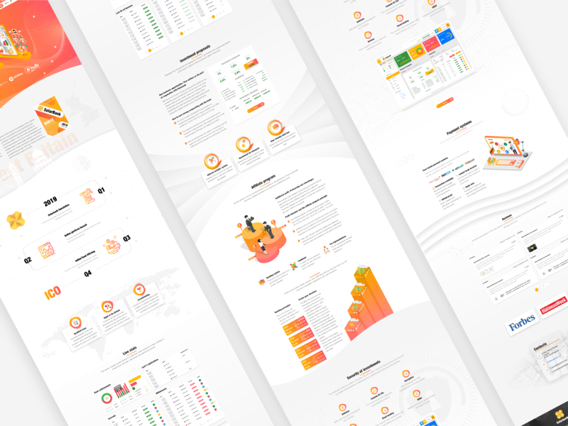 Landing page for financial institution   SolarBank chart mobile banking user experience user interface crypto investing extej web design web designer ui design ux design digital wallet online banking blockchain investment illustration dashboard payment fintech finance