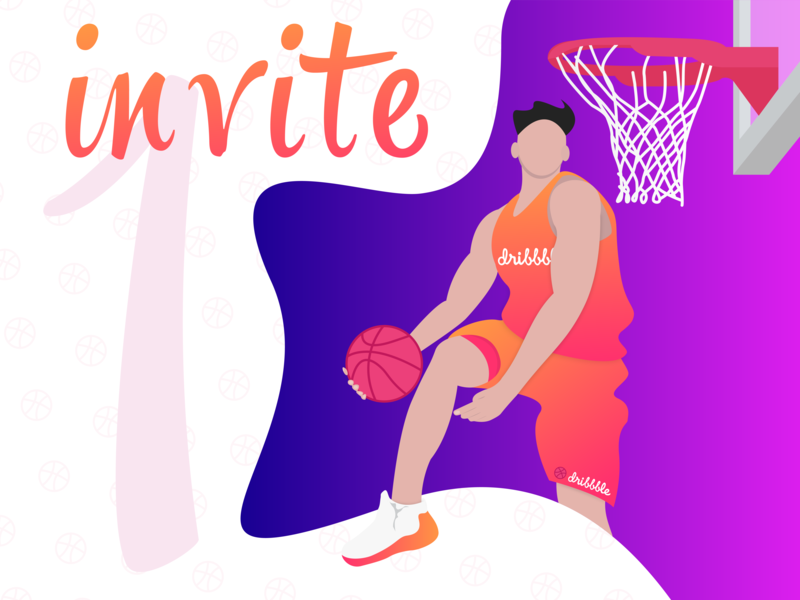 Free Invite to Dribbble for a talented designer