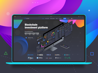 SaaS Product Landing Page Design for a Fintech startup product platform dashboard web startup blockchain payment landing  page landing branding webapp web app saas landing page saas extej web design banking crypto fintech finance