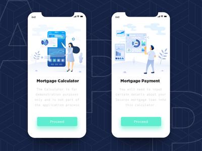 Mortgage mobile app splash screen