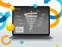 Spiral Tornado Chart Collection for Presentations