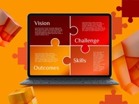 Challenge and Outcomes Diagram for PowerPoint