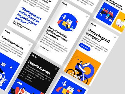 Fueler - Mobile ui  ux clean minimal website web design ux design ux ui design ui typography responsive product design mobile ios interface design illustration icon cms branding app