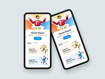 Online Course App UI figma mobile apps ios app course app course design 3d illustration ios mobile app profile learning app ux ui design ui clean app colorful study