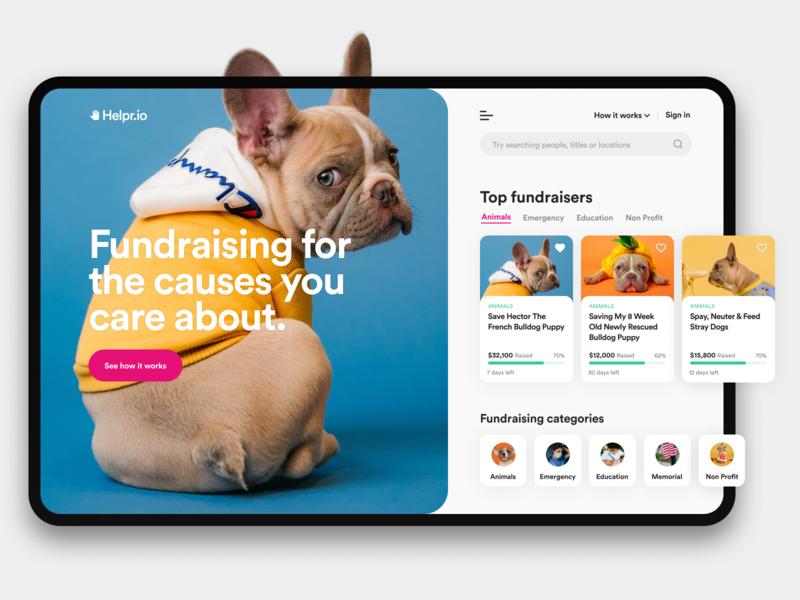 Charity / Fundraiser App charity ux ui design ui ux design web design app product design ios interface design web website typogaphy web app pet minimal clean creative design 3d