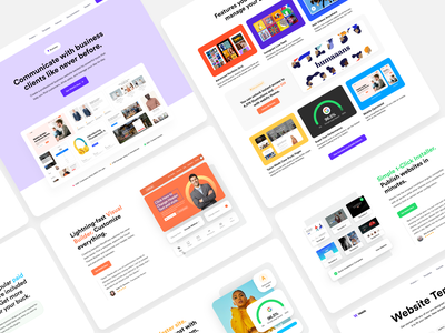 Landing Page Exploration minimal clean uiux website typography responsive mobile ios interface design illustration icon cms branding product design app web design ux design ui design ui ux