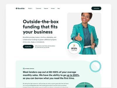 Funding Landing Page colorful minimal saas funding typography responsive mobile illustration icon branding ios website interface design product design app web design ux design ui design ui ux