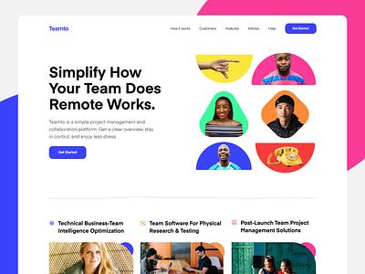 Landing Page 🥝 colorful saas minimal landing website web design ux design ux ui design ui typography responsive product design mobile ios interface design illustration icon branding app
