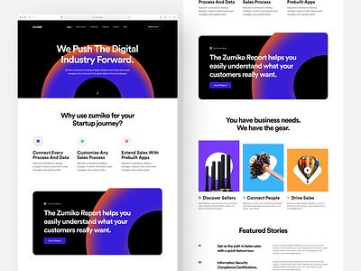 Business Landing Page colorful business minimal website web design ux design ux ui design ui typography responsive product design mobile ios interface design illustration icon cms branding app