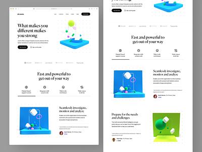 SaaS Landing Page web creative 3d illustration object 3d website web design ux design ux ui design ui typography responsive product design ios interface design illustration icon branding app