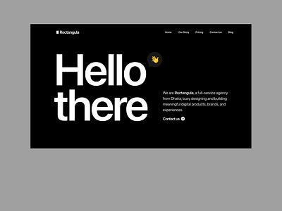 Rectangula - Homepage Concept 1 black  white black dark ui dark landing page homepage minimal studio branding website product design interface design app web design ux design ui design ui ux