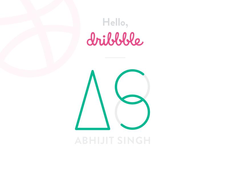 Hello, Dribbble! minimal shapes geometric lines as logo debut hellodribbble