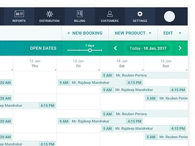 Dashboard WIP green web app rentals gradient buttons dashboard