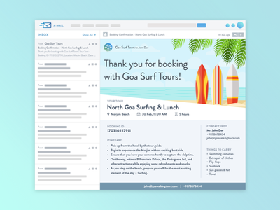 Email Template beach template email