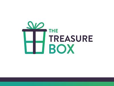 The Treasure Box Logo type simple treasure box logotype logo letters identity font flat branding