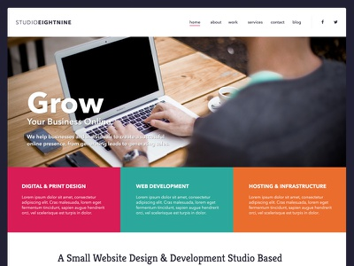 Studioeightnine freelance website