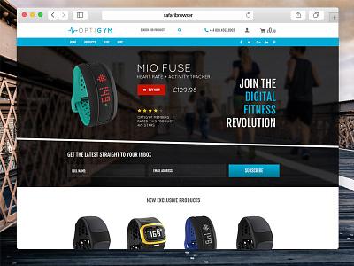 Optigym health digital fitness ecommerce fitness