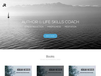 Life Skills Website lake books author calm relax