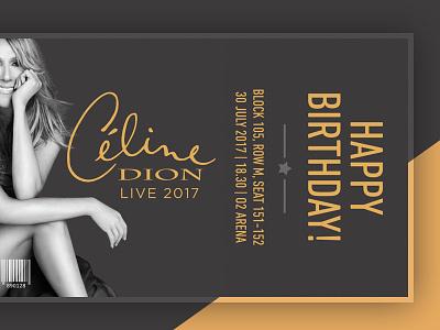 Celine Ticket birthday celine ticket