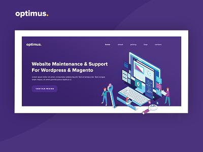 Optimus Website Banner purple website banner