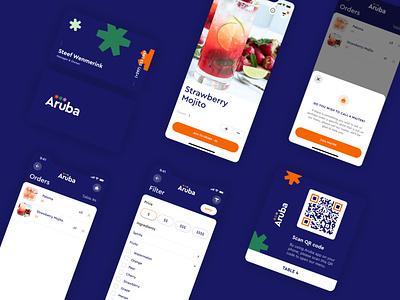Aruba Beach Bar - Mobile App logo graphic design ui app mobile ios branding app  design ui ux