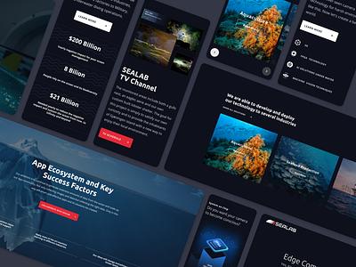 Sealab website aquaculture sea sealab responsive design design ui ux web design
