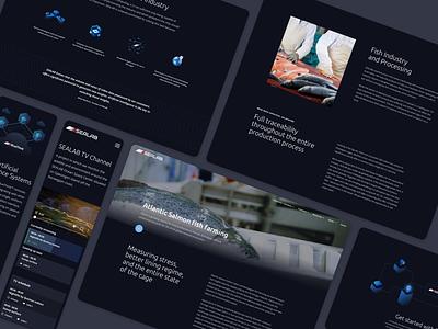 Sealab website fish sea design app  design ui ux ui aquaculture