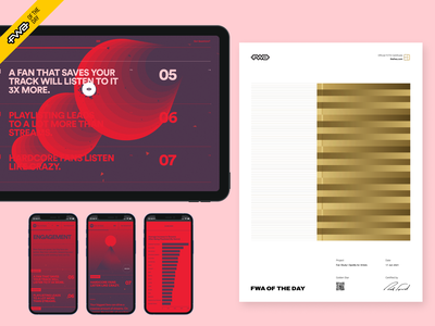 Fan Study wins FWA of the day! awards thefwa win particles webgl spotify branding logo illustration design mobile website motion animation fwa