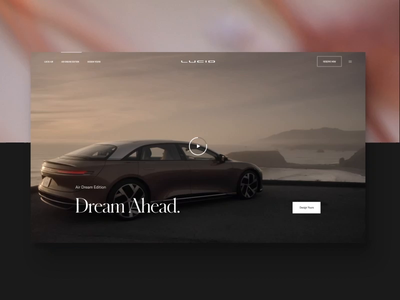 Awwwards Site of the Day for Lucidmotors.com mobile design car automotive website motion animation