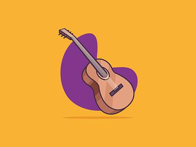 Acoustic Guitar Vector minimalist guitar musician music vector acoustic guitar drawing guitar icon colorful guitarist instrument music vector illustration vector art vector guitar