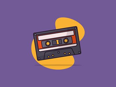 Retro Cassette cassette aesthetic melancholic 60s 90s 80s 70s bside tape musician music mixtape vector icon retro vector vintage casette