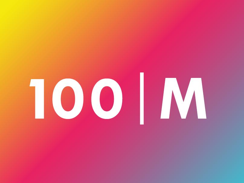 100M Branding ui website typography branding design art direction