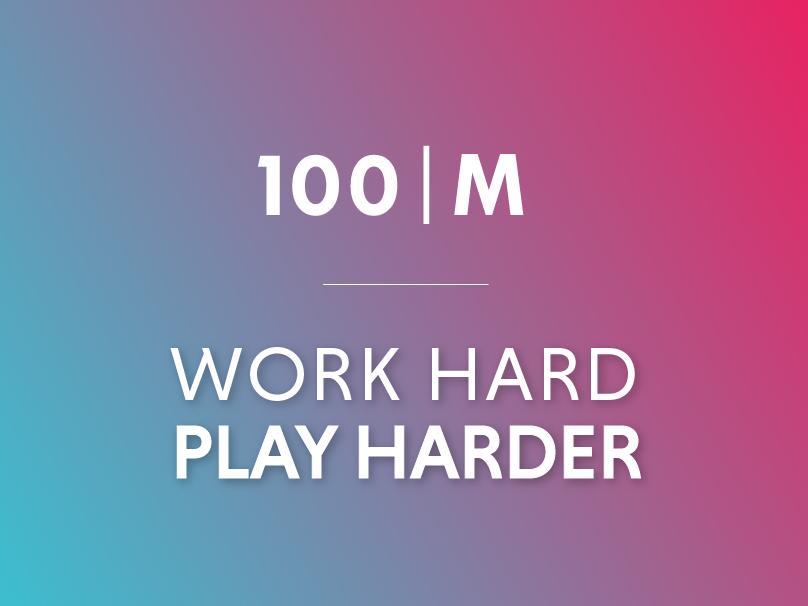 100M Marketing Collateral & Website ui website typography branding design art direction