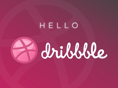 Hello Dribbble! logo dribbble hello