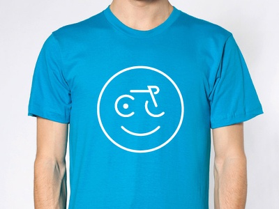 CycleLove Buddy Tee bike minimal happy smile circle cyclelove design bikes cycling face tshirt tee