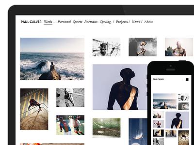 Paul Calver — minimal portfolio website wordpress minimal website responsive portfolio photography
