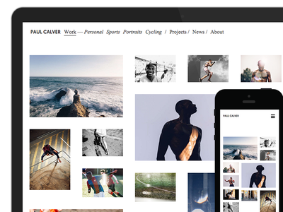 Paul Calver — minimal portfolio website wordpress minimal website responsive portfolio photography