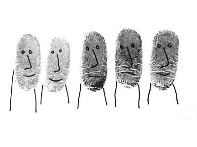 Don't start your personal brand with a fancy logo or website faces fingerprint illustration branding
