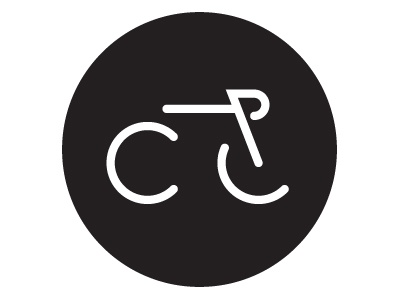 CycleLove logo bike round pictogram cycling