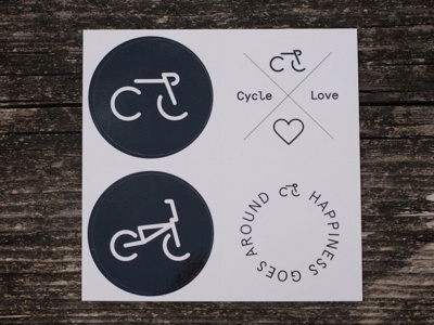 CycleLove Stickers stickers bike cycle cycling minimal pictogram