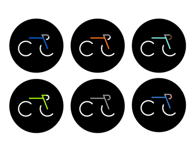 CycleLove + colour bikes logo pictogram cycling icon