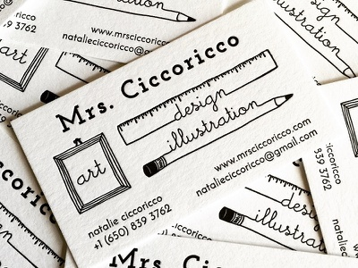 Letterpress Bussiness Cards black and white line illustration business cards business card pencil drawing illustration branding design letterpress