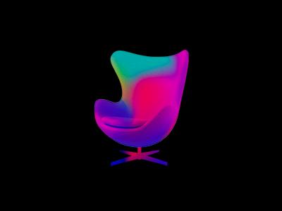 Egg Chair gradient chair