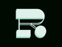 R letter illustration typography drop cap