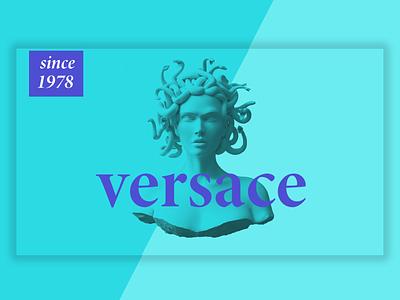 Versace Poster ui,ux,green,design,typography branding fashion poster