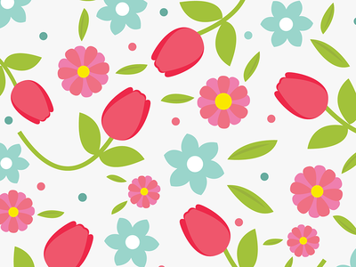(Messy) Flower Pattern