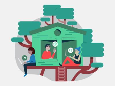 productivity treehouse!