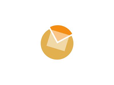 SLS Email Logo logo graphic branding pie chart envelope email message analytics illustrator saleforce orange